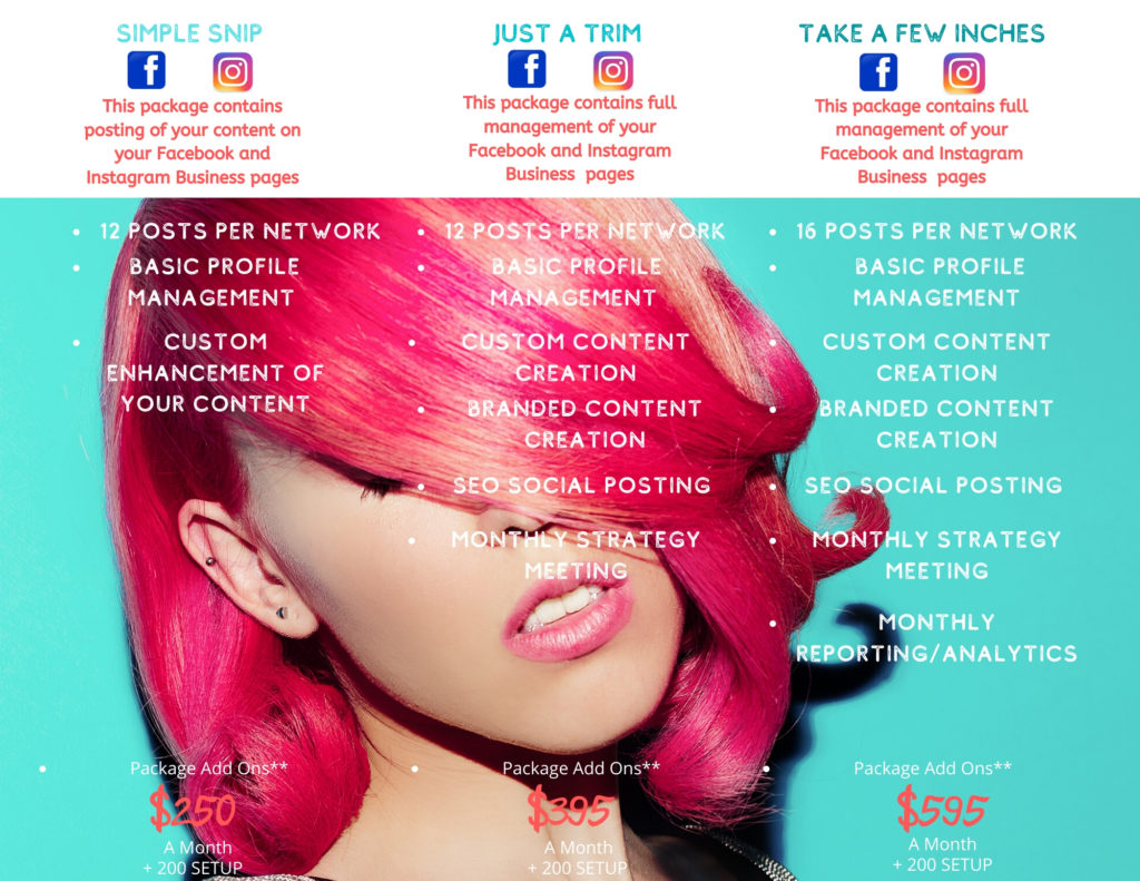 Salon Social Media Packages First